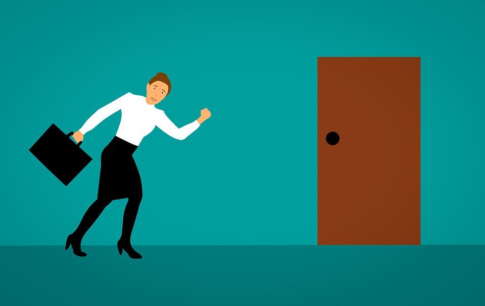 Door, Leaving, Work, To Reach, Going To, Running