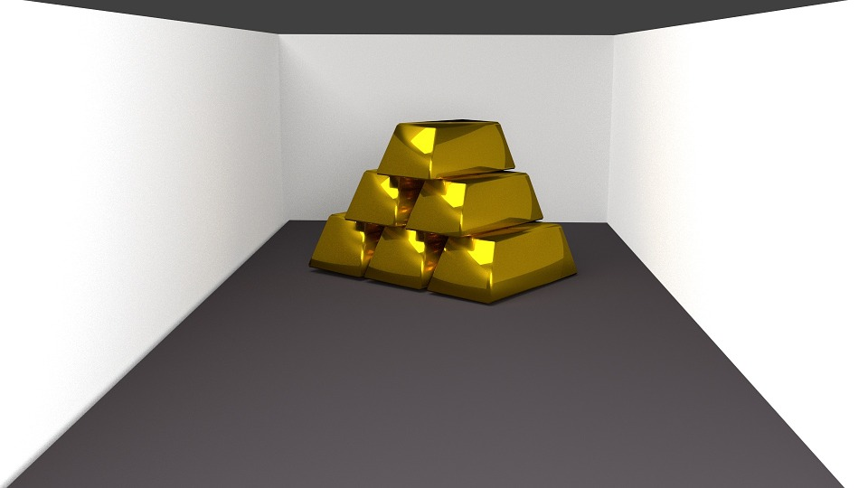 Gold, Bars, Bricks, 3d