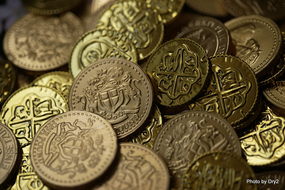 Free photo Gold Bitcoin Wealth Rich Money Currency Coins