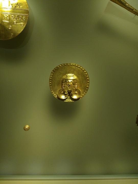 Gold, Gold Museum, Piece Of Gold, Bogota