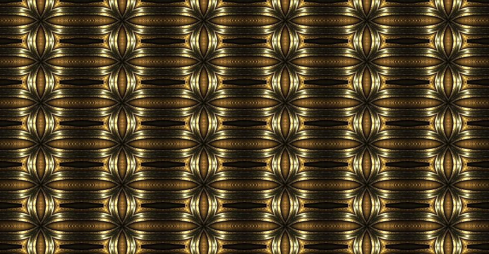 Apophysis, Fractal, Braid, Gold, Decorative, Decoration