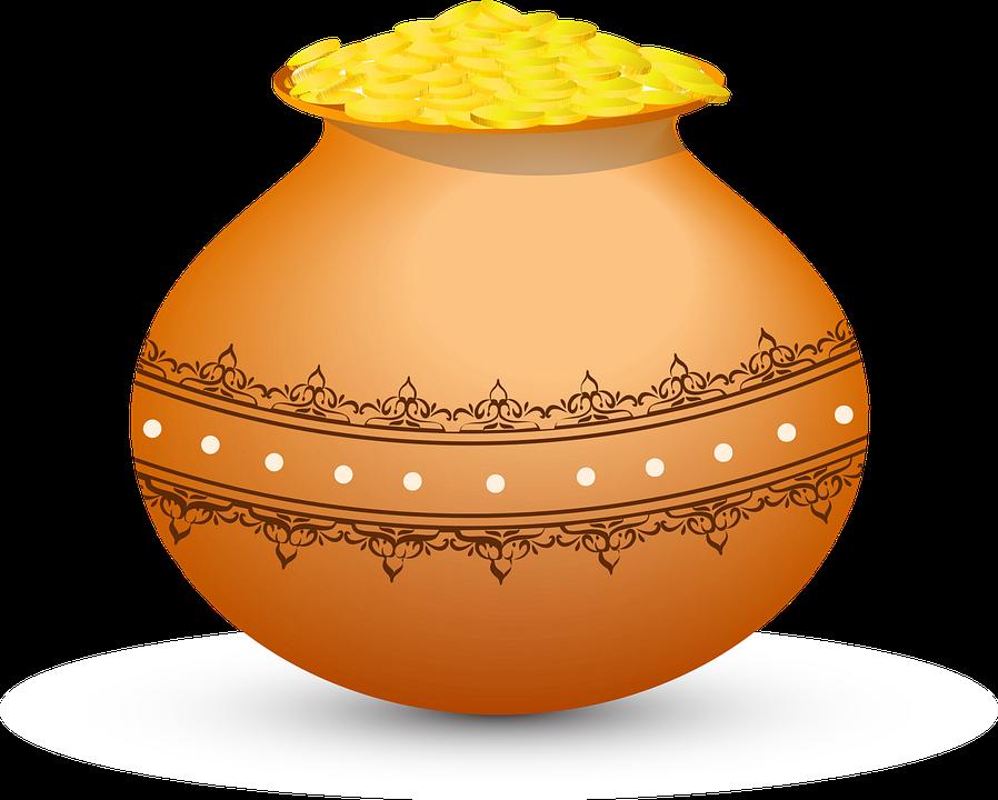 Golden Pot, Magical Pot, Pot, Coin Pot, Gold Coins