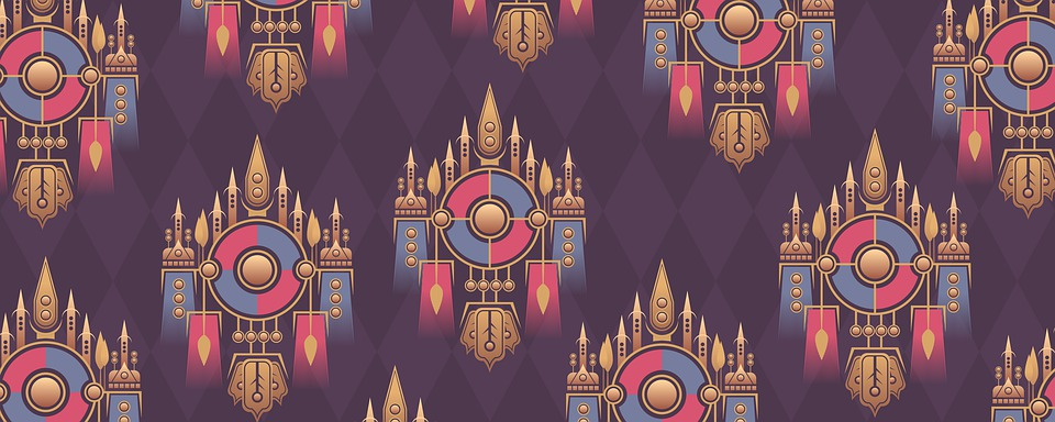 Non-seamless, Pattern, Background, Colors, Gold