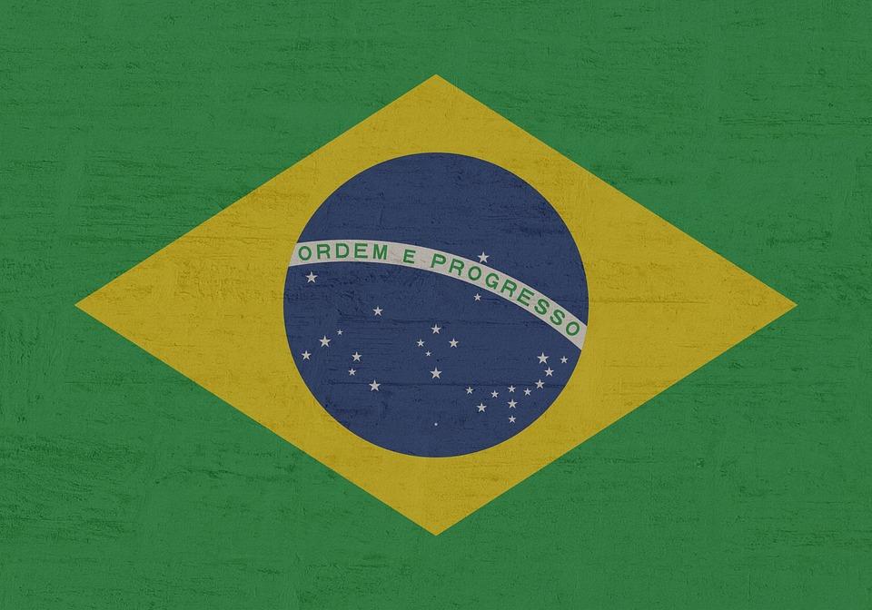 Brazil, Flag, Gold