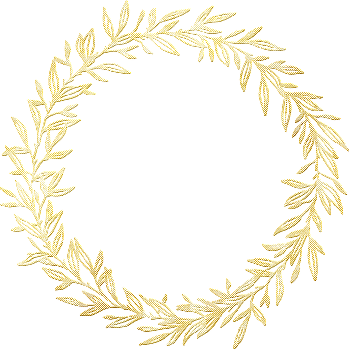Gold Foil, Wreath, Frame, Gold Foil Wreath, Leaves