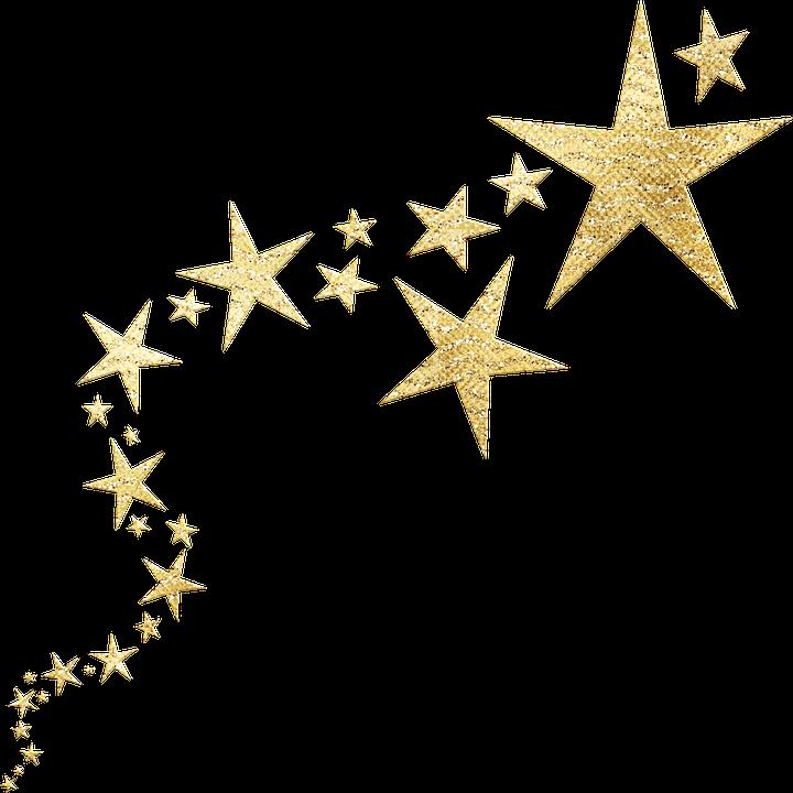 Gold Foil, Stars, Confetti, Gold Foil Stars