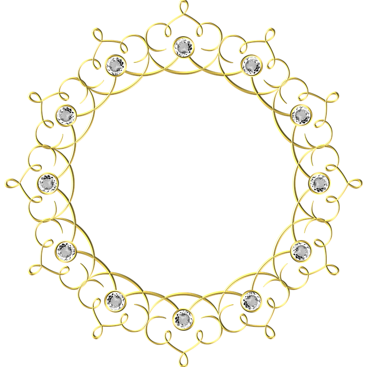 Gold, Frame, Round, Border, Decoration, Decor