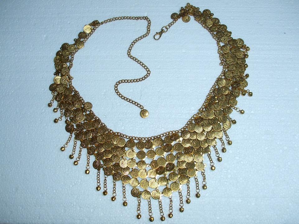 Necklace, Jablonec, Gold, Fashion