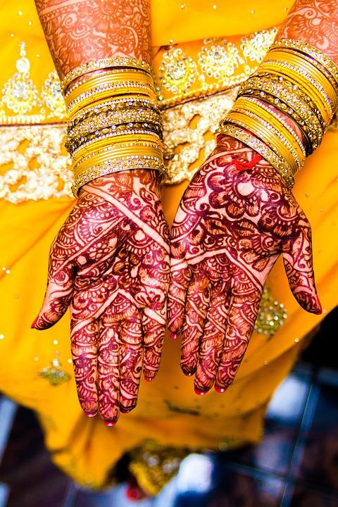 Mehendi, Bangles, Wedding, Jewelry, Saree, Gold