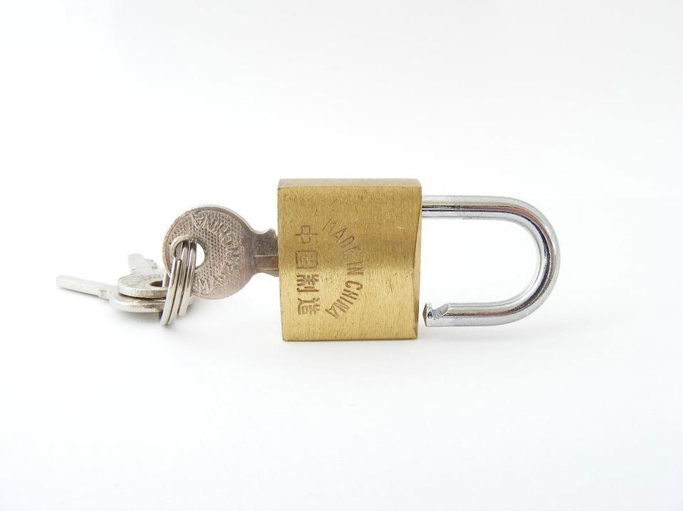 Gold, Lock, Key, Silver, Keys, White