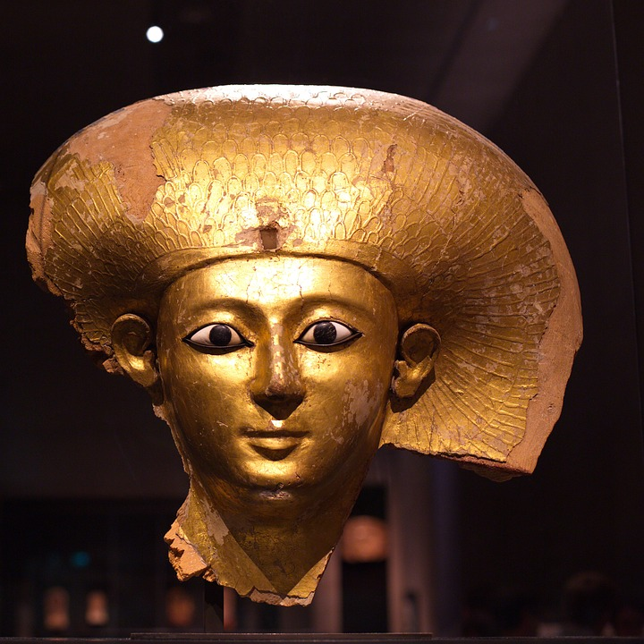 Pharaonic, Gold Mask, Munich, Egyptian Museum
