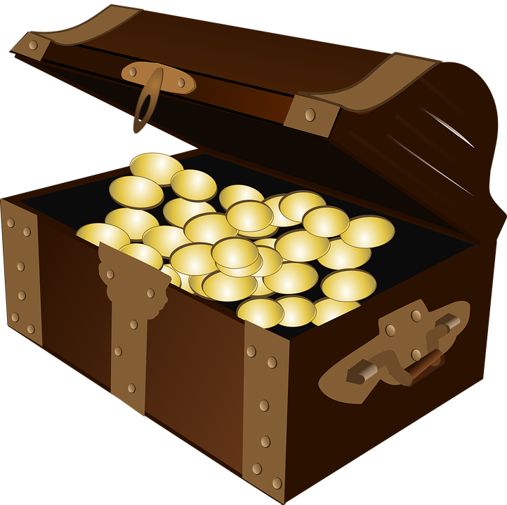 Treasure, Treasure Chest, Gold, Chest, Pirate, Rich