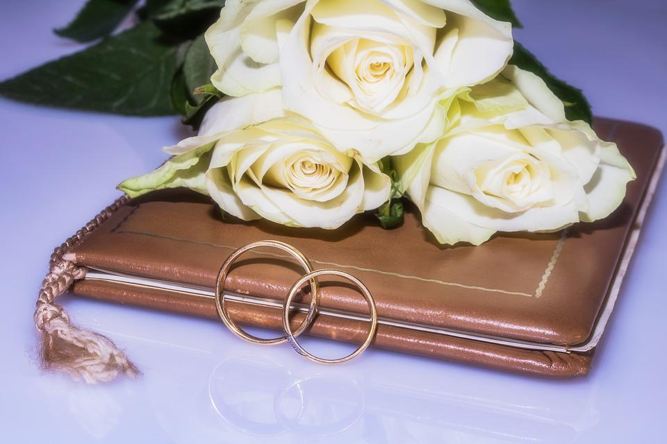 Free photo Gold Rings Wedding Rings Rings Roses Wedding Book Max Pixel