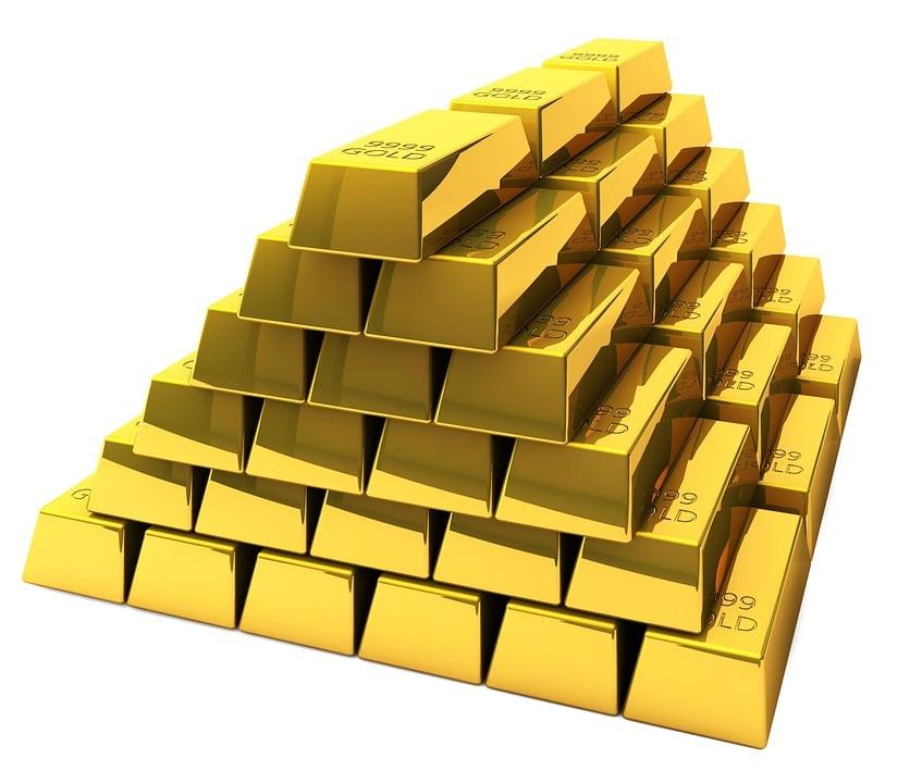 Gold, Bars, Feingold, Bank, Stock Exchange, Insurance