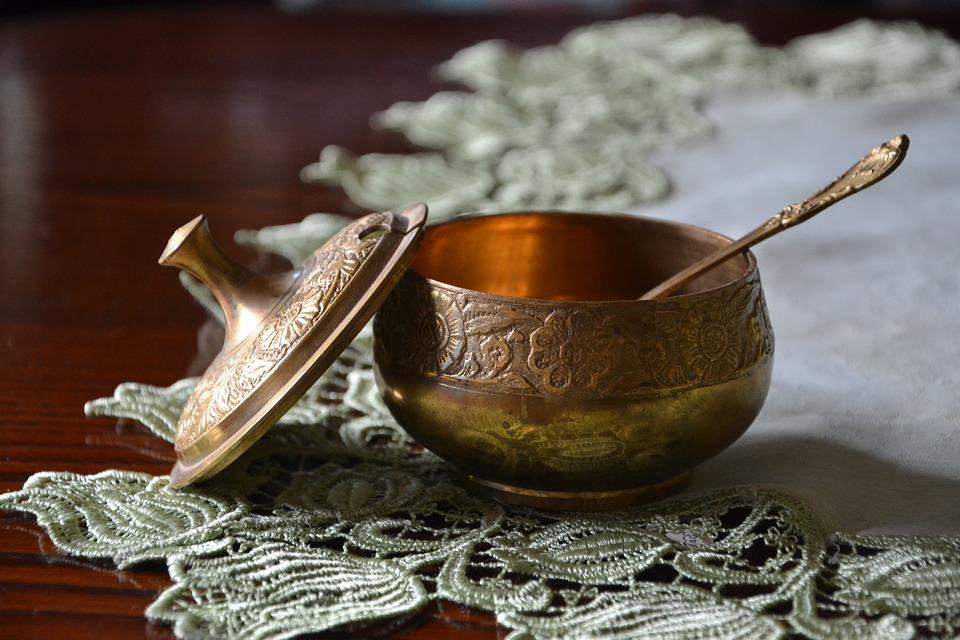 Sugar, Teapot, Gold, Cutlery, Beautiful, Sugar Bowl