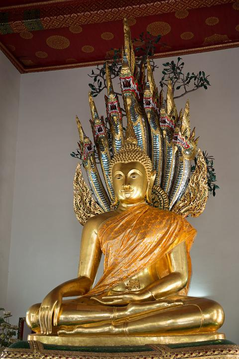 Thailand, Gold, Statue, Temple, The Buddha