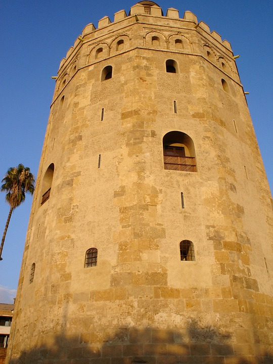 Tower, Gold Tower, Seville, Monuments, Andalusia, Spain