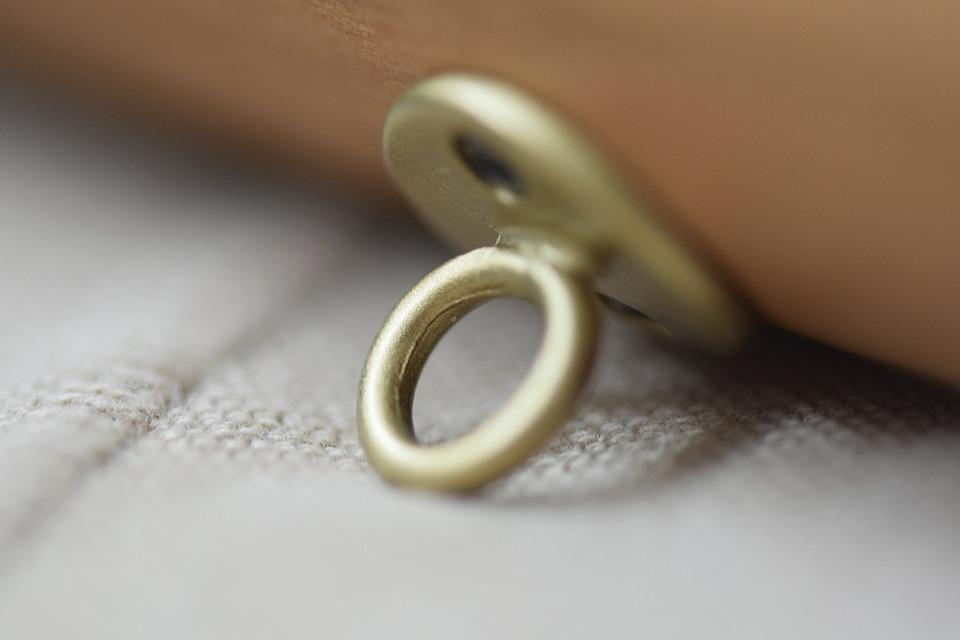 Ring, Mount, Ornament, Gold, Anchoring, Wood, Flute