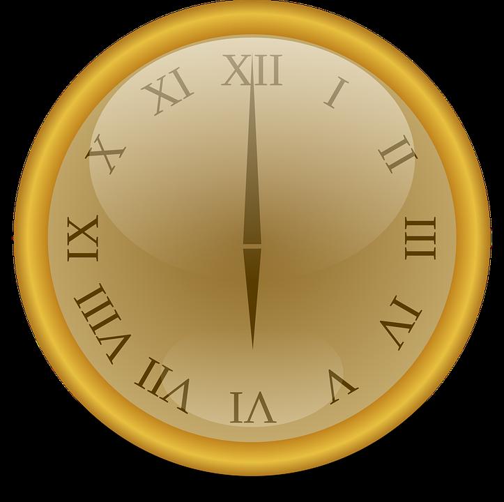 Clock, Golden, Number, Numbers, Roman, Watch