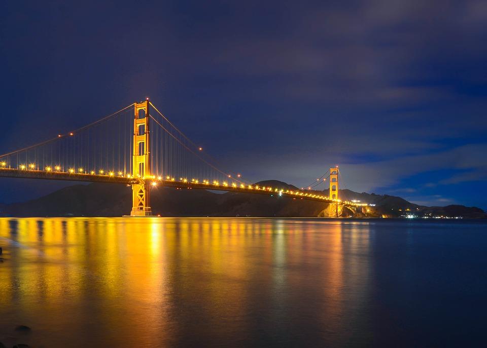 Golden Gate Bridge, San Francisco, Bridge, River, Ocean