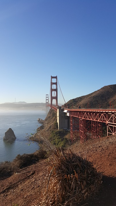Golden, Gate, Golden Gate Bridge, California