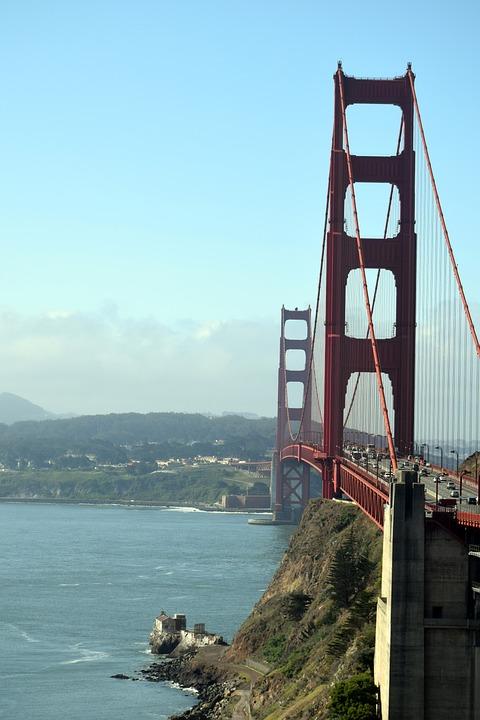 Golden Gate Bridge, San Francisco, California, Ocean