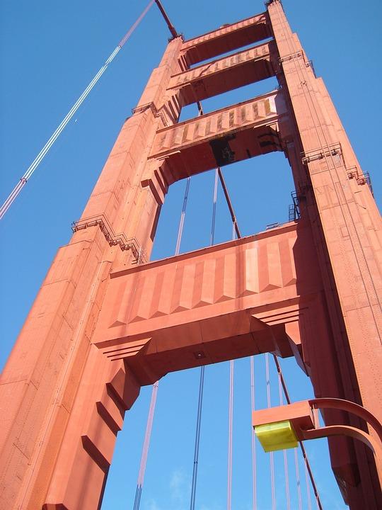 San, Francisco, Suspension Bridge, Golden Gate Bridge