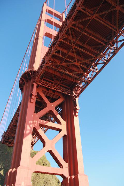 Golden Gate Bridge, San Francisco, Bay, Pacific