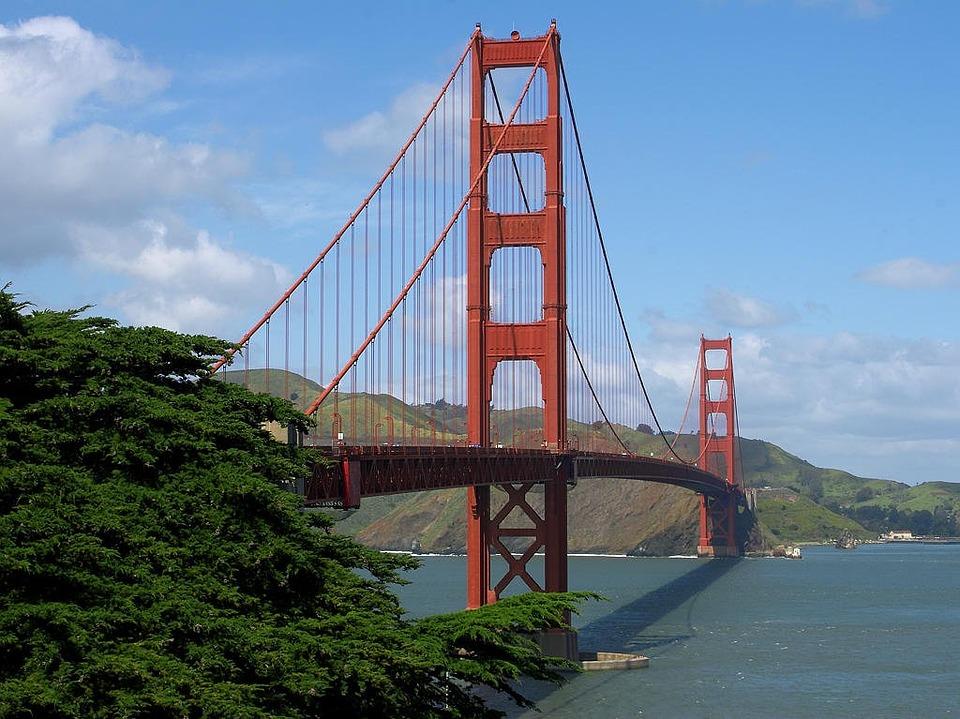 Suspension Bridge, Golden Gate Bridge, Steel Cables