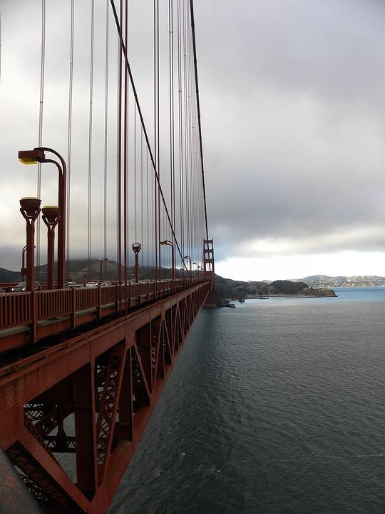 Golden Gate Bridge, Suspension Bridge, Bridge, Golden