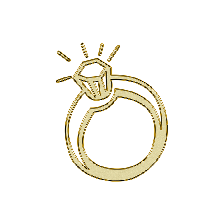 Free photo Golden Gold Ring Symbol Wedding Glitter Max Pixel