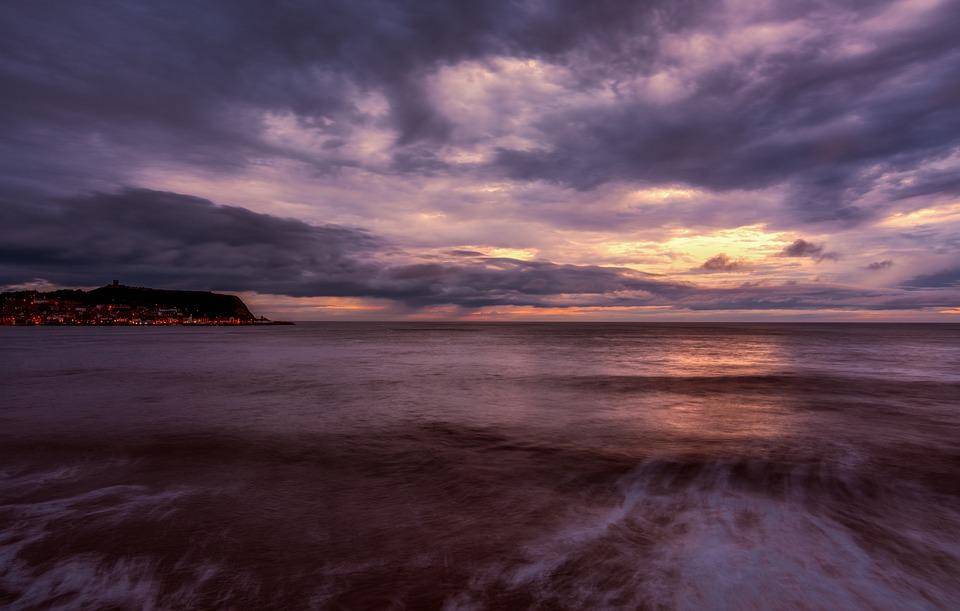 Scarborough, Sunrise, Seascape, Golden Hour, Coast