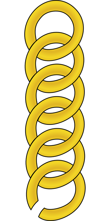 Chain, Links, Gold, Linked, Golden, Jewelry