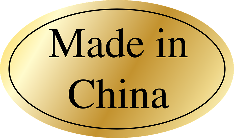 Made In China, Label, Golden