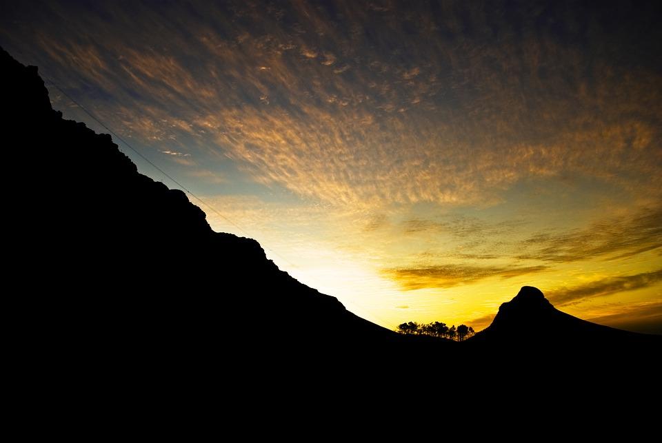 Golden Hour, Golden, Hour, Sky, Mountain, Camps, Bay