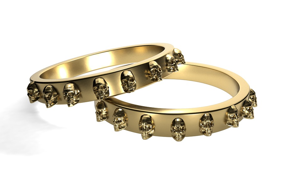 Free photo Golden Ring Rings Gold Skull And Crossbones - Max Pixel