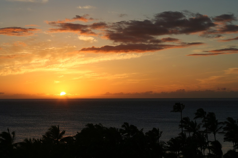 Sunsets, Hawaiian Sunset, Landscapes, Golden Sunset