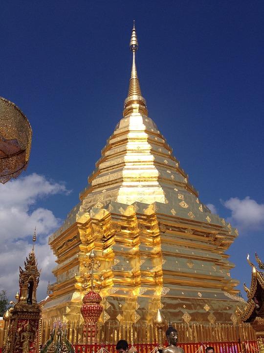 Wat, Thailand, Temple, Asia, Architecture, Thai, Golden