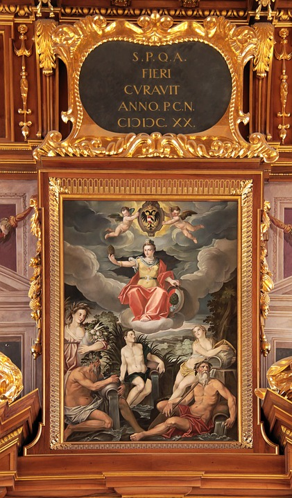 Goldener Saal, Augsburg, Mural, Wall Painting