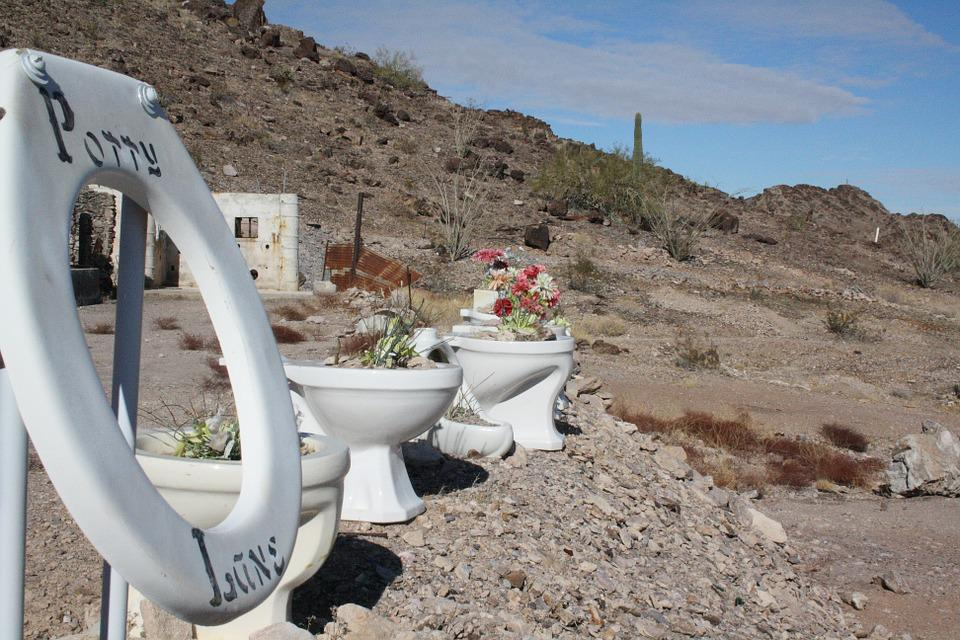 Usa, Arizona, Quartzsite, Goldgraeber