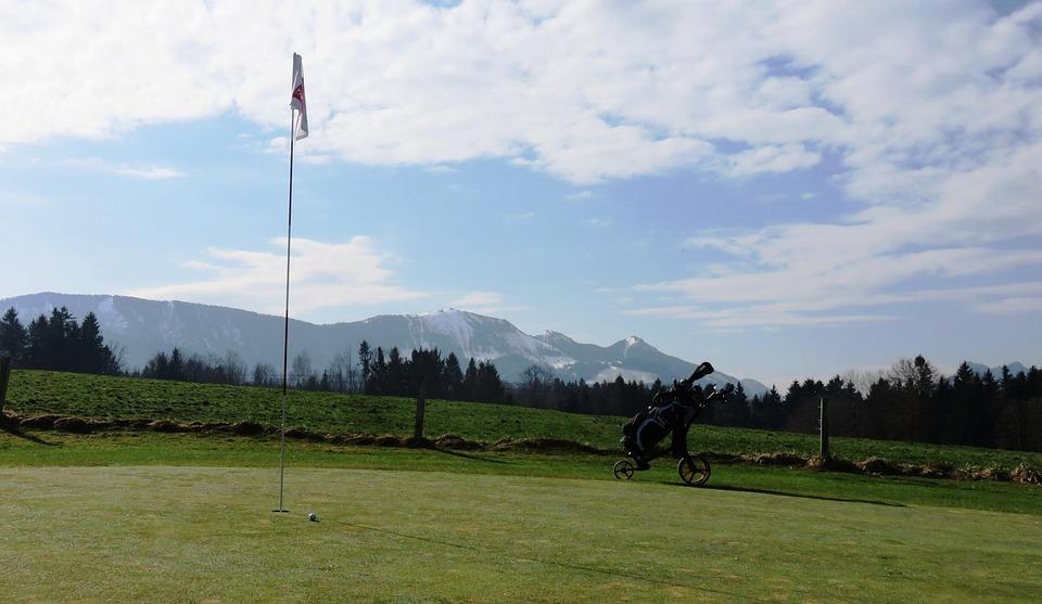 Golf Course, Golf Flag, Hole, Track 2, Alpenblick