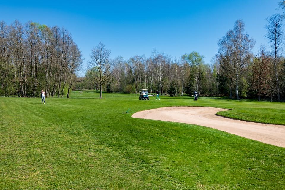 Golf Course, Golf, Maxlrain, Sport, Green, Grass