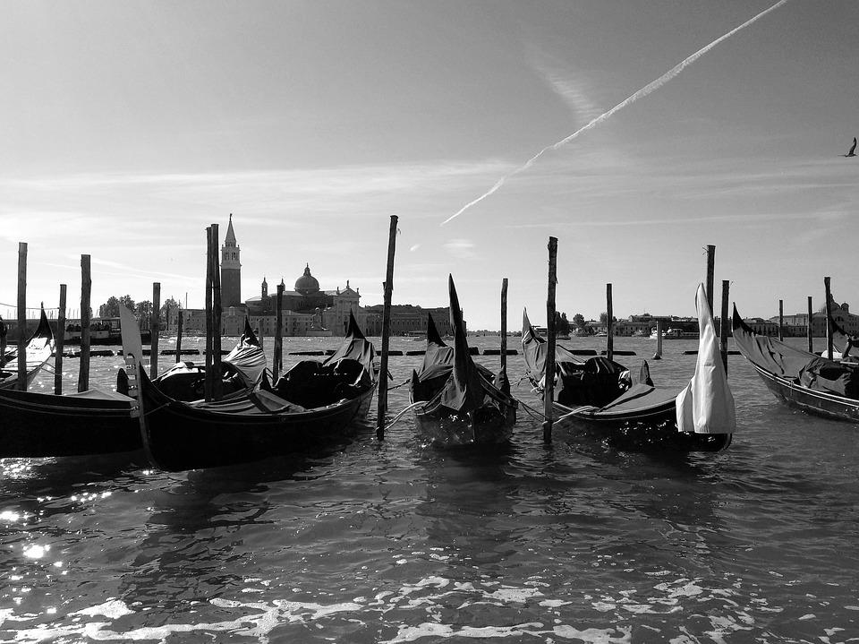Venice, Italy, Channel, Waterway, Gondola, River