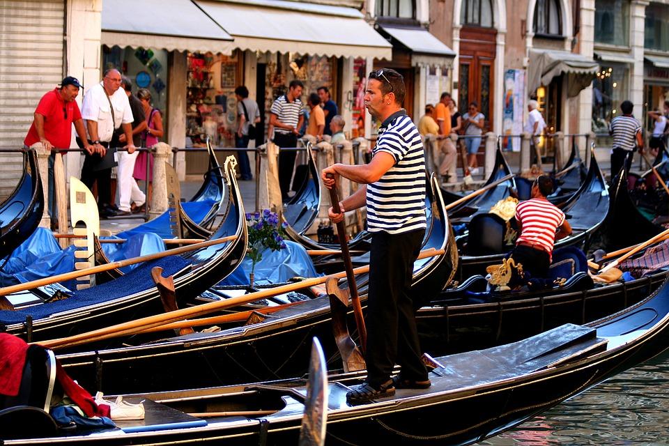 Venice Italy, Gondola, Gondolier, Water, Travel, Canal