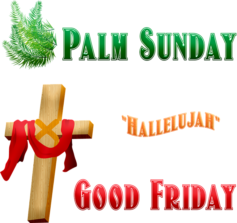 Good Friday, Cross, Palm Sunday, Hallelujah, Jesus