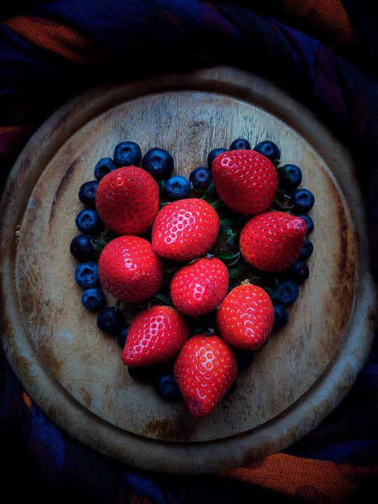 Berry, Red, Blue, Strawberry, Love, Good, Fruits