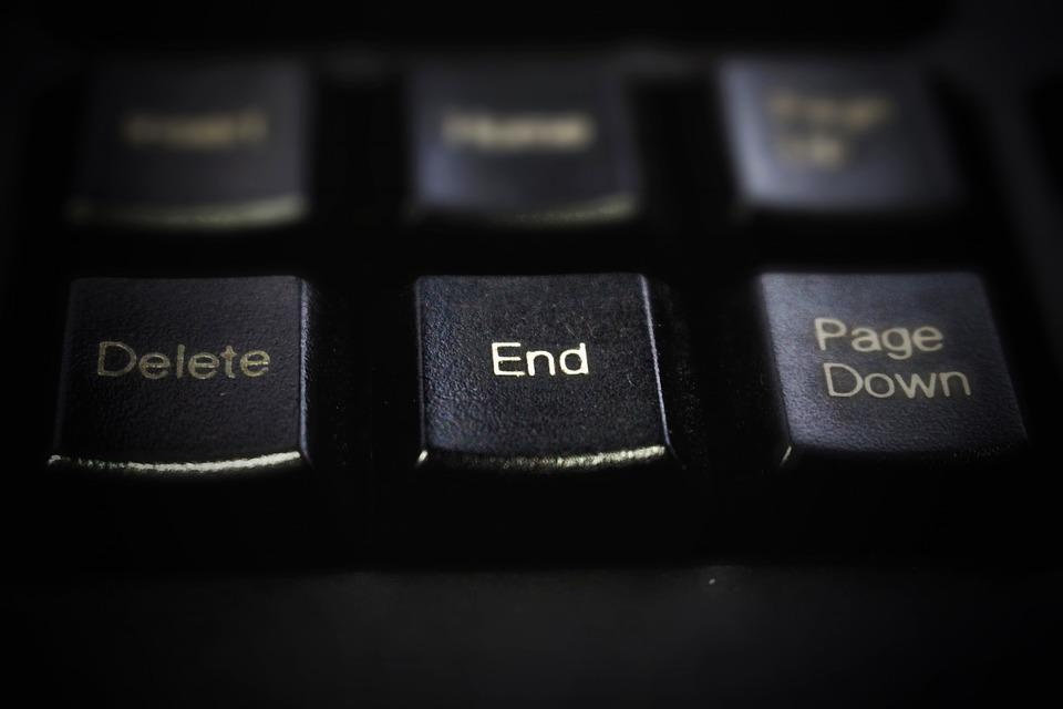 Keyboard, Black, Button, The End, Goodbye