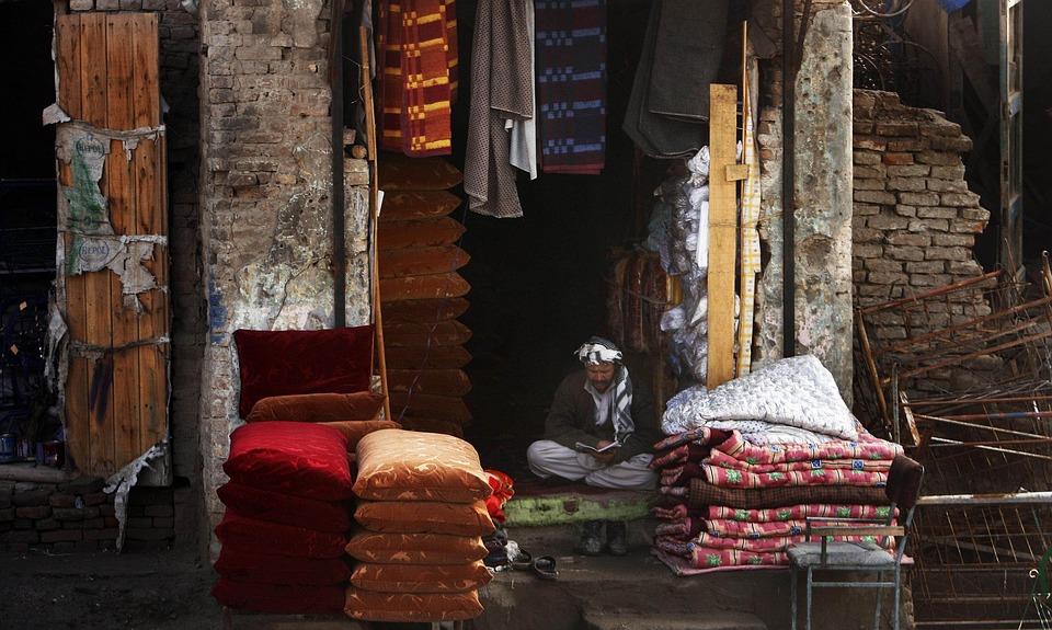 Afghanistan, Merchant, Man, Village, Villager, Goods