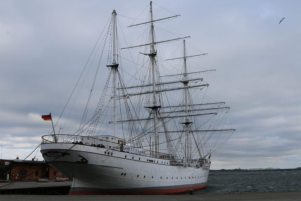Shipping, Sailing Vessel, Stralsund, Ship, Gorch Fock