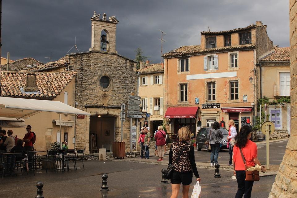 Gordes, Market Square, Provence, France